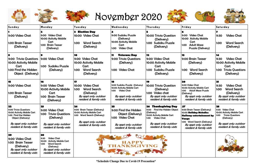 Roselani Calendar